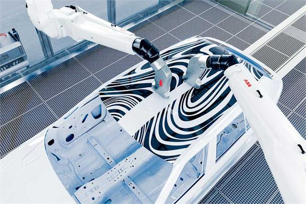ABB's PixelPaint robotic painting technology for the automotive industry